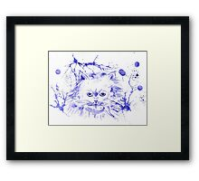 Abstract Ink - Purple Persian Cat Framed Print