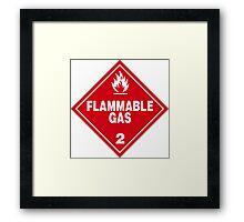Flammable gas Framed Print