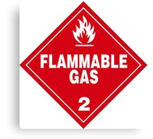 Flammable gas Canvas Print