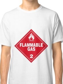 Flammable gas Classic T-Shirt