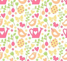 Spring cartoon print by sherbynka