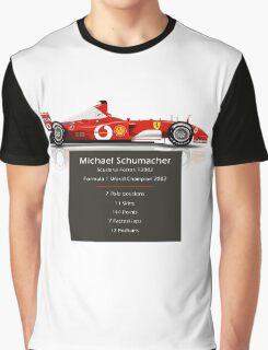 Michael Schumacher  - Ferrari F2002 - Geeky Stats Graphic T-Shirt