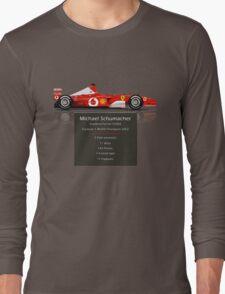 Michael Schumacher  - Ferrari F2002 - Geeky Stats Long Sleeve T-Shirt
