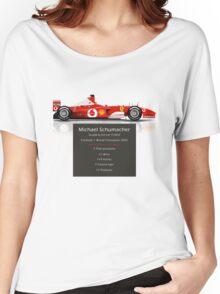 Michael Schumacher  - Ferrari F2002 - Geeky Stats Women's Relaxed Fit T-Shirt