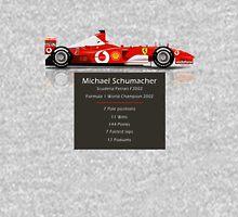 Michael Schumacher  - Ferrari F2002 - Geeky Stats Unisex T-Shirt