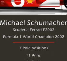 Michael Schumacher  - Ferrari F2002 - Geeky Stats Sticker