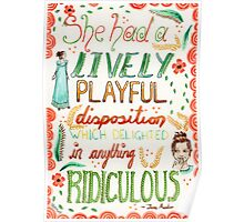 Jane Austen - Pride and Prejudice - Quote Poster