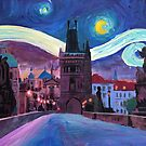 Starry Night in Prague by artshop77