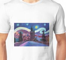 Starry Night in Prague Unisex T-Shirt