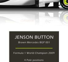 Jenson Button - Brawn BGP001 - F1 Geek version Sticker