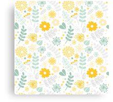 Funny floral pattern Canvas Print