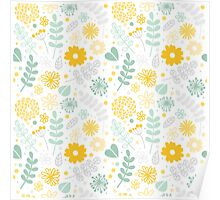 Funny floral pattern Poster