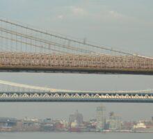 Three Bridges of New York City Sticker