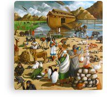 Noah and the Ark: Original Mural Painting, Bible Scene Canvas Print