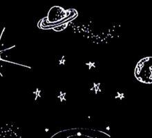 space black Sticker