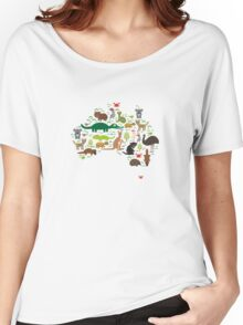 Australian animal map  Women's Relaxed Fit T-Shirt