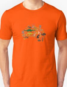 Australian animal map  Unisex T-Shirt