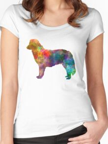 Nova Scotia Duck Tolling Retriever in watercolor Women's Fitted Scoop T-Shirt