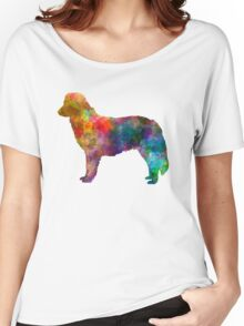 Nova Scotia Duck Tolling Retriever in watercolor Women's Relaxed Fit T-Shirt