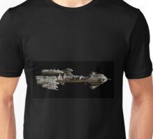 Interstellar Escort Frigate Space Ship - side view Unisex T-Shirt