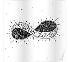 Typographic hand drawn sign infinity Poster