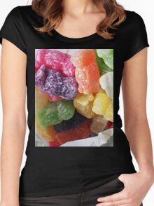 Jelly Babies in a white paper bag Women's Fitted Scoop T-Shirt