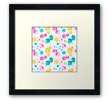 Colored blots Framed Print