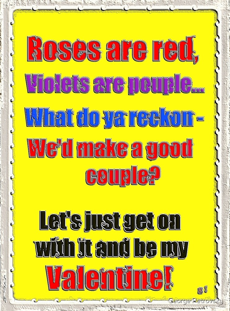 Romantic Aussie Valentine Card by George Petrovsky