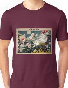 Great Battle At Lushun Bay - Sadajiro Ariyama - 1904 - chromolithograph Unisex T-Shirt