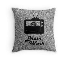 Brainwash Tv Throw Pillow