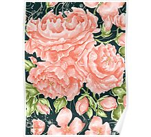 Rococo Wonderland: The Turquoise Roses Poster