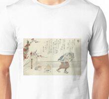 Hair Ties - Minko Tachibana - 1770 - woodcut Unisex T-Shirt