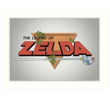 The Legend of Zelda - Classic Logo (Posterized) Art Print
