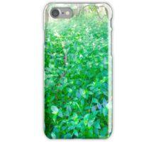 Flower upon shrubs base  iPhone Case/Skin