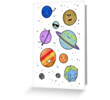 Solar System Buddies Greeting Card