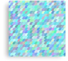 Colorful fish scale pattern Canvas Print
