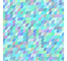 Colorful fish scale pattern Photographic Print