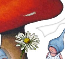 Take Time To Smell the Flowers, Toadstool, Gnomes Sticker