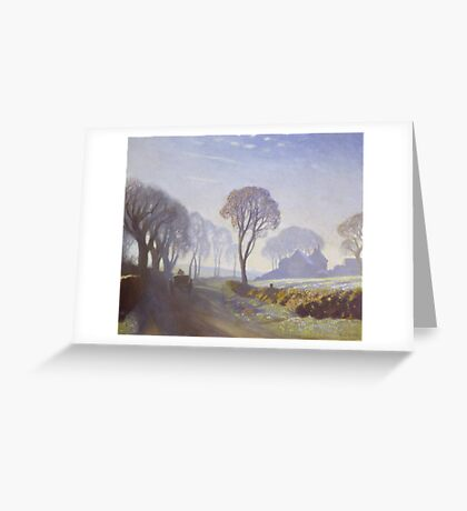 Sir George Clausen  Title The Road, Winter Morning Greeting Card