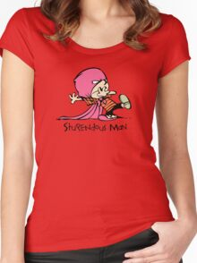 Calvin and Hobbes Stupendous Man Women's Fitted Scoop T-Shirt