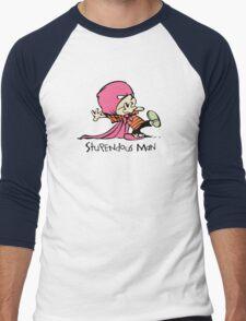 Calvin and Hobbes Stupendous Man Men's Baseball ¾ T-Shirt