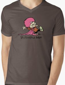 Calvin and Hobbes Stupendous Man Mens V-Neck T-Shirt