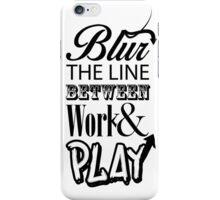Blur the line... iPhone Case/Skin