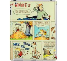 calvin and hobbes comic vintage iPad Case/Skin