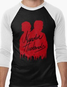 Murder Husbands [Red/Black] Men's Baseball ¾ T-Shirt