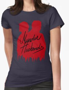 Murder Husbands [Red/Black] Womens Fitted T-Shirt