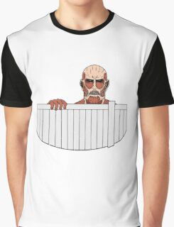 Attack on titan fence design Graphic T-Shirt