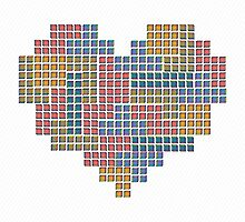 TETRIS COLLECTION Hearts by Printmysoul