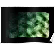 wavy knitted shapes geometry Poster