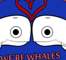 Valentine - Whales Sticker
